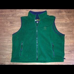 Vintage EB Tech fleece vest size men's Xl green